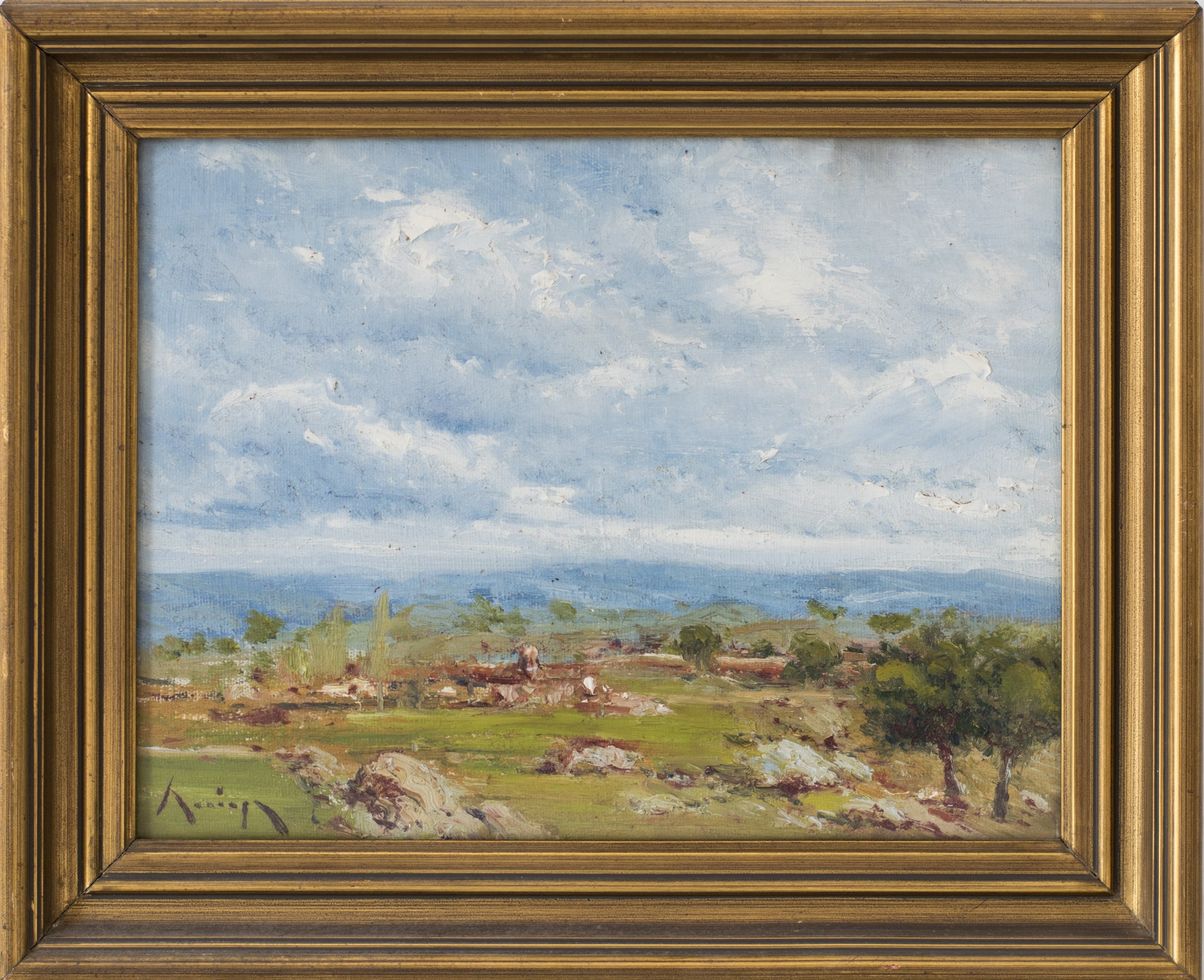 Landscape with a View of Mountains_Framed