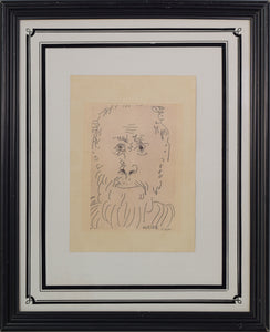 Etching Signed Picasso_Framed