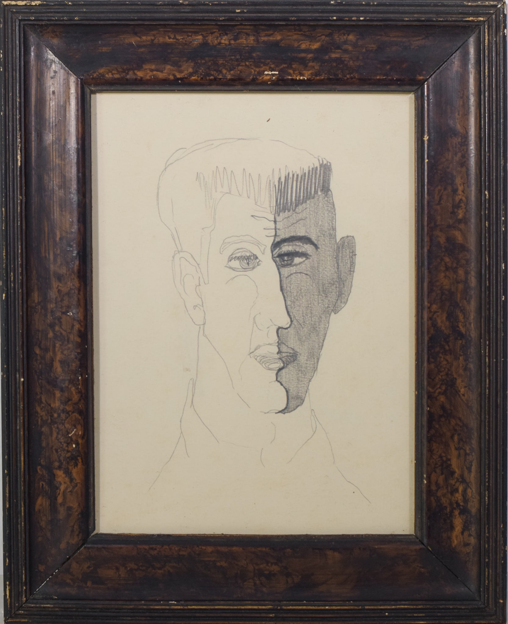 Portrait Drawing of a Man_Framed