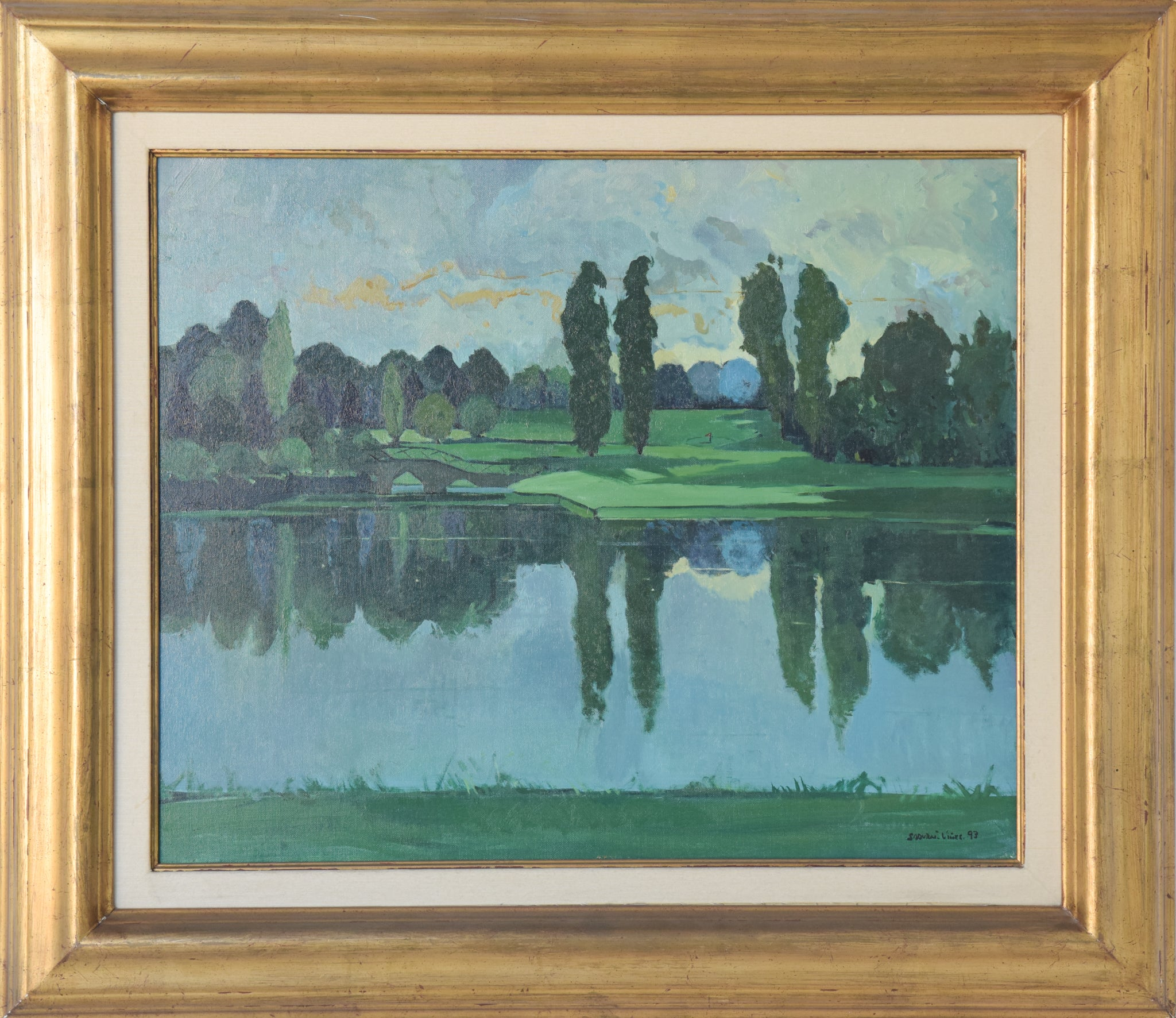 Reflections on the River - Landscape Painting_Framed