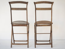 Load image into Gallery viewer, Elegant Antique Pair of French Folding Chairs_Rear
