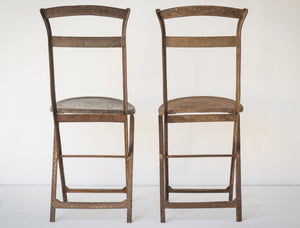 Elegant Antique Pair of French Folding Chairs_Rear