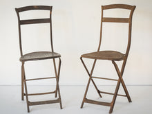 Load image into Gallery viewer, Elegant Antique Pair of French Folding Chairs