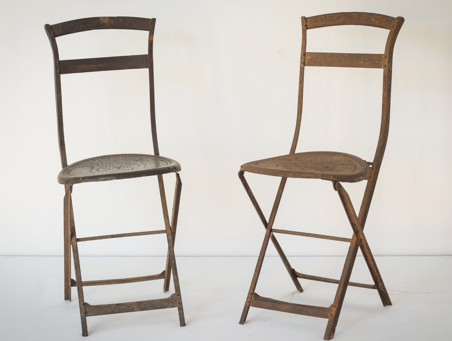 Elegant Antique Pair of French Folding Chairs