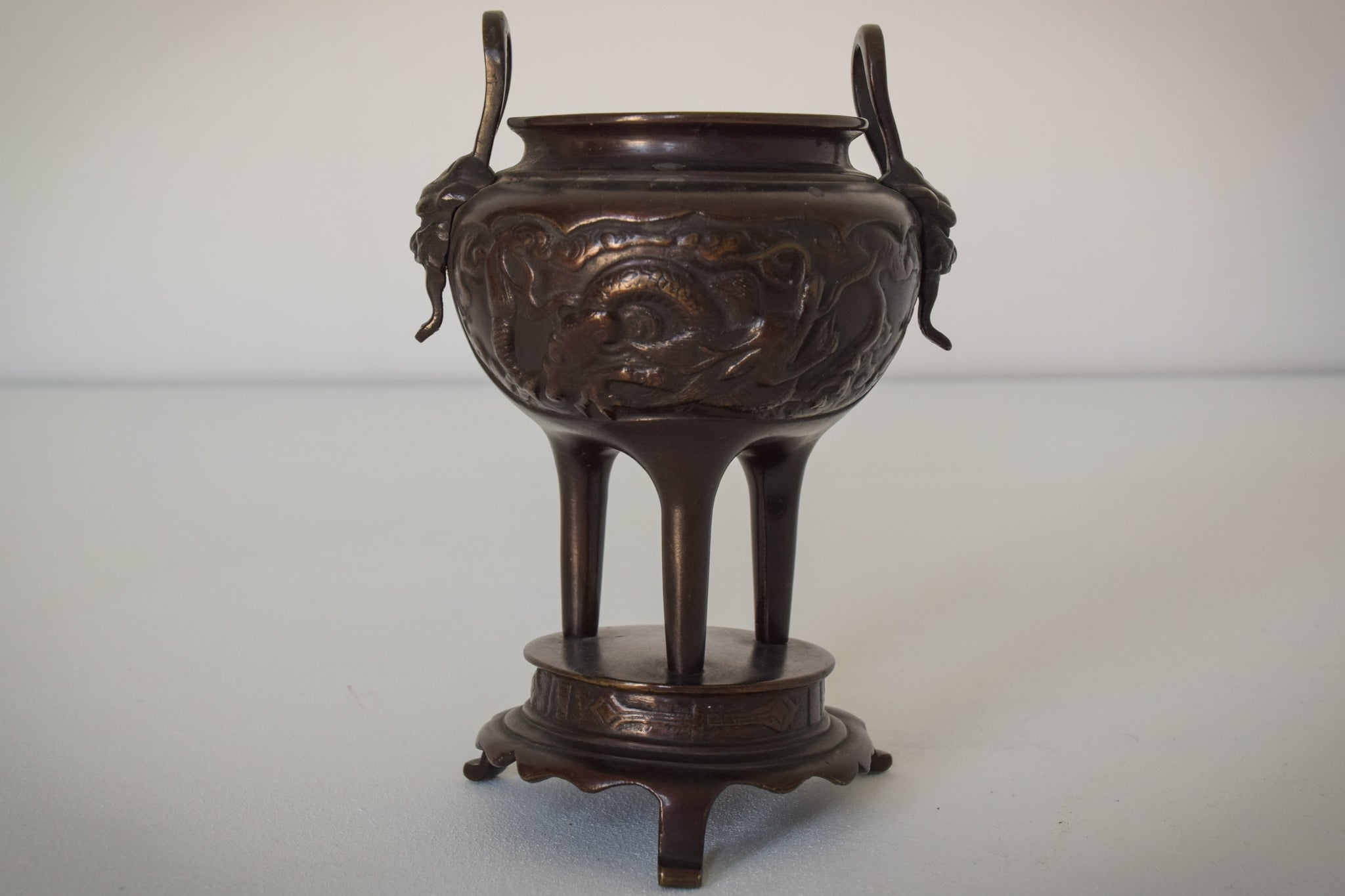 Ornamental Bronze Chinese Pot