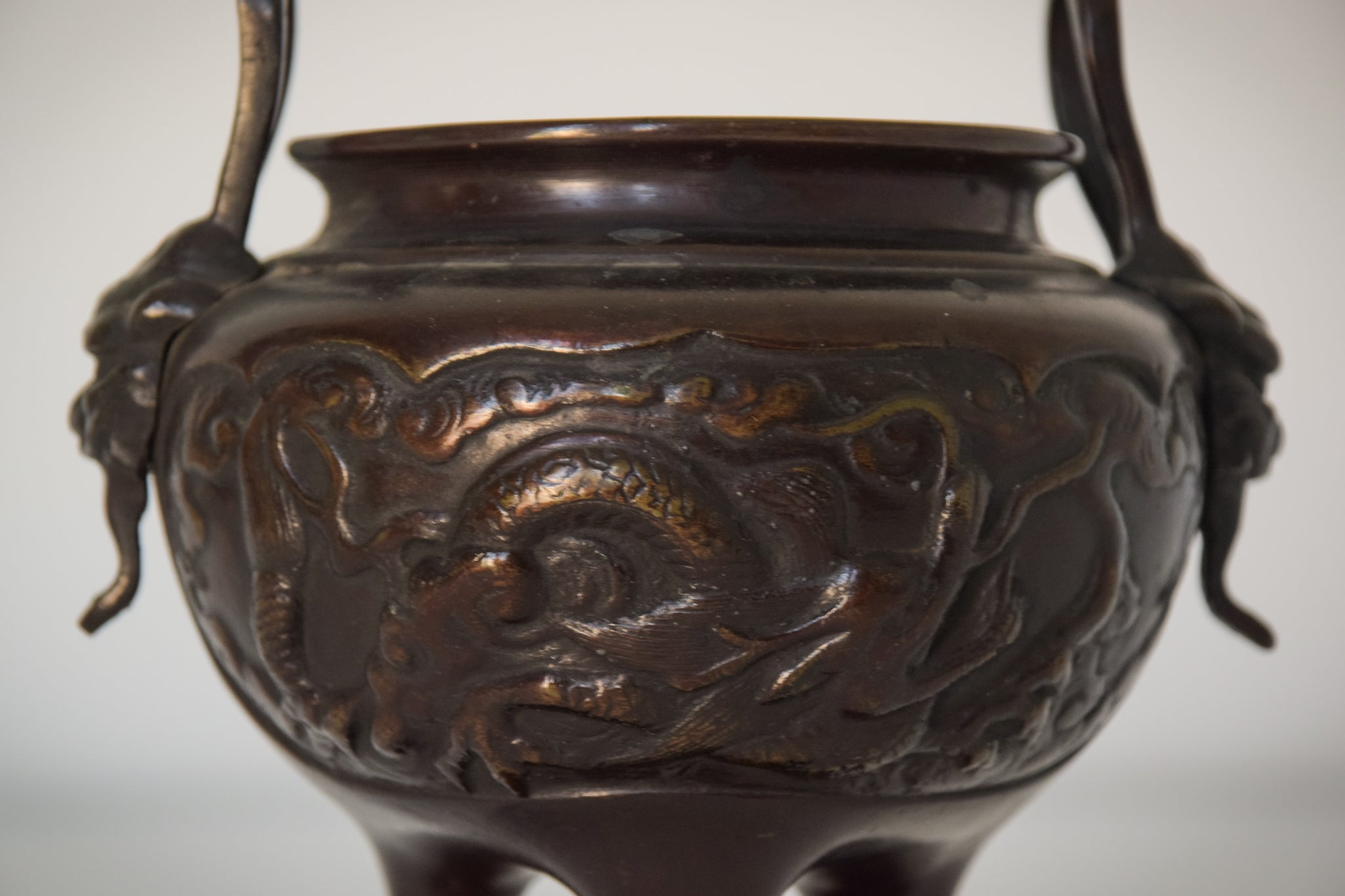 Ornamental Bronze Chinese Pot_Detail