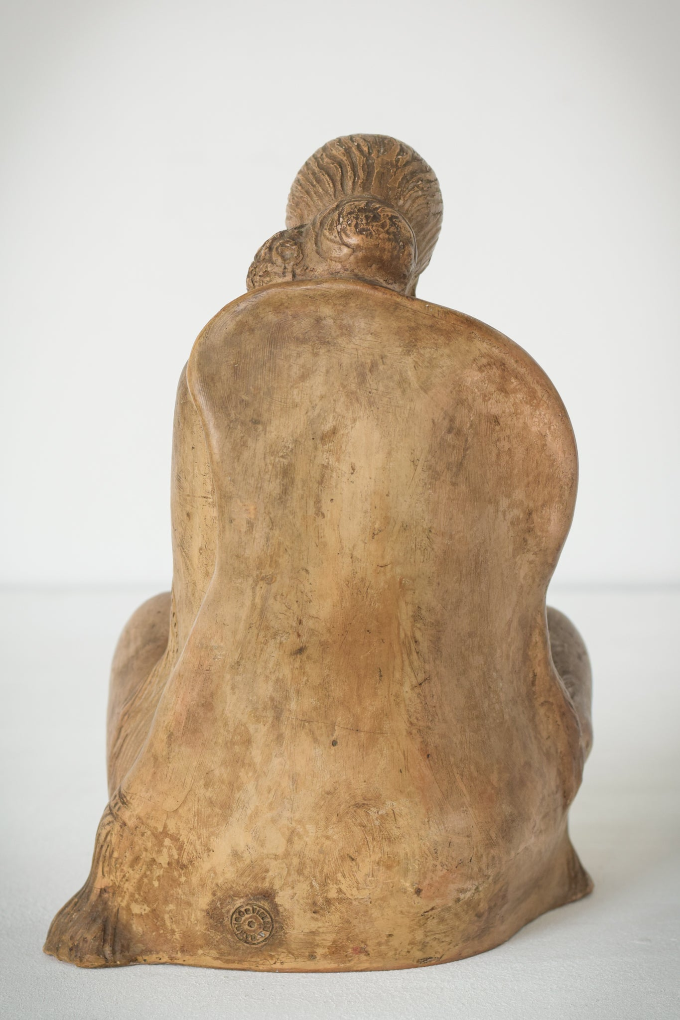 Terracotta Sculpture of A Draped Seated Woman_Back