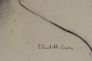 Portrait Drawing of a Woman by Elisabeth Gross_Signature