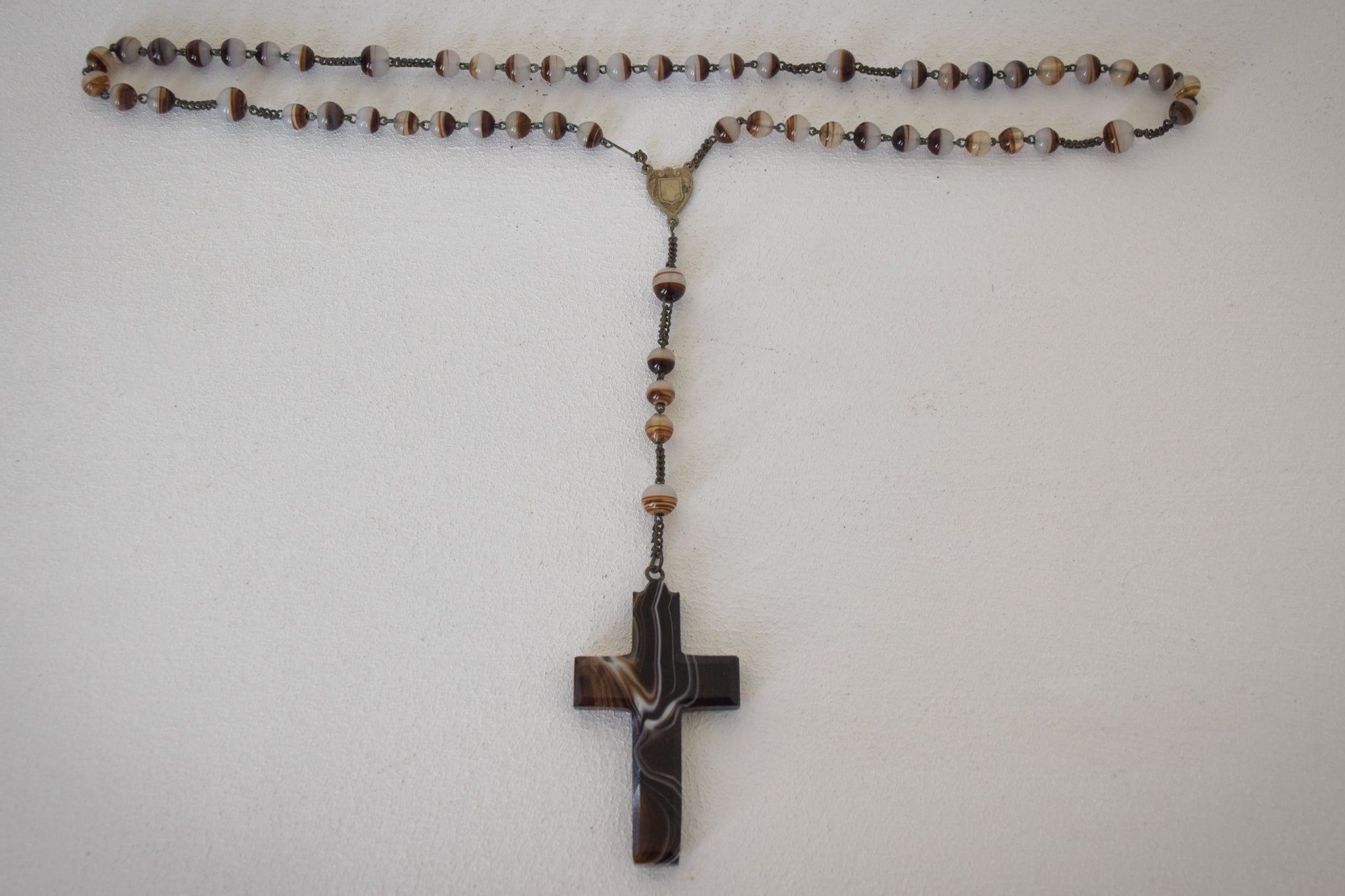Rosary with Lacquer Cross and Beads