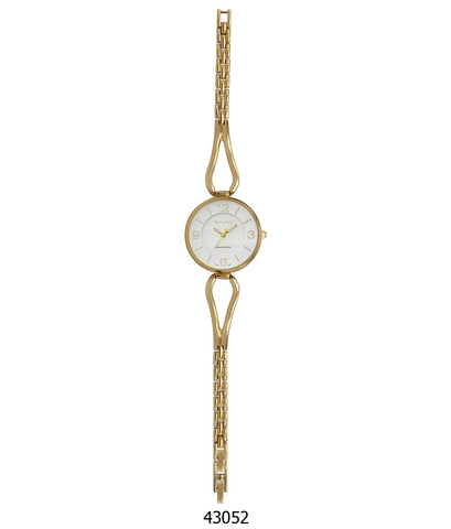 Montres Carlo IP Gold Bracelet Watch with IP Gold Case