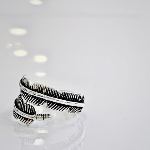 Grace  Feather Wrap Ring