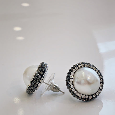 Pearl Post Earrings