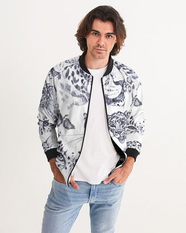 Zhaklin logo with tiger art background Men's Bomber Jacket
