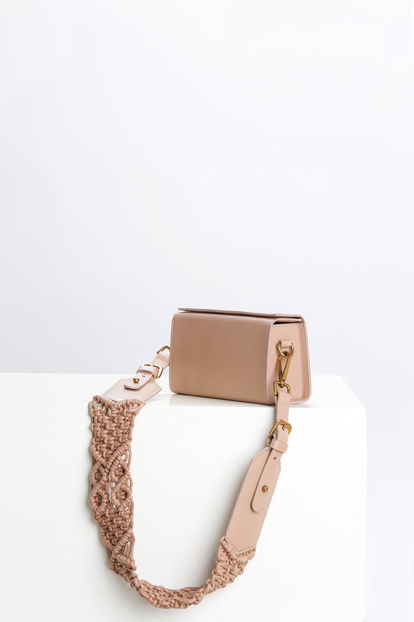 SAMA BOX BAG - NUDE