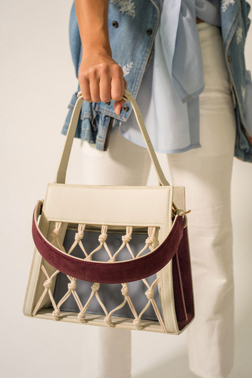 AMU BAG - WHITE DARK PURPLE
