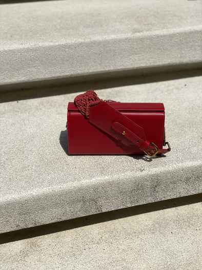 SAMA BOX BAG - RED