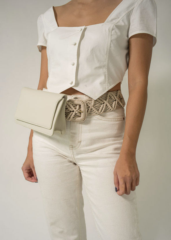 FLOUSÉ BELT BAG - WHITE