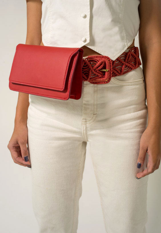 FLOUSÉ BELT BAG - RED