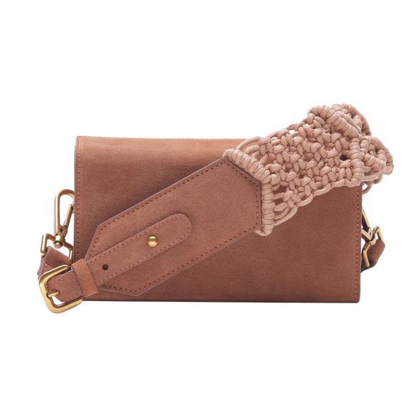 SAMA BOX BAG - SUEDE BROWN