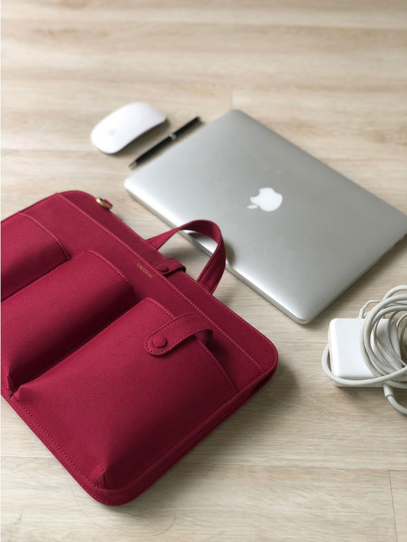 LIA LAPTOP RED CANVAS