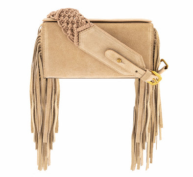 SAMA BOX BAG - NUDE FRINGE