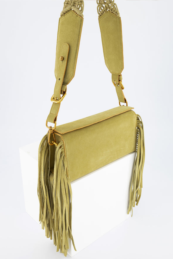 SAMA BOX BAG - YELLOW FRINGE
