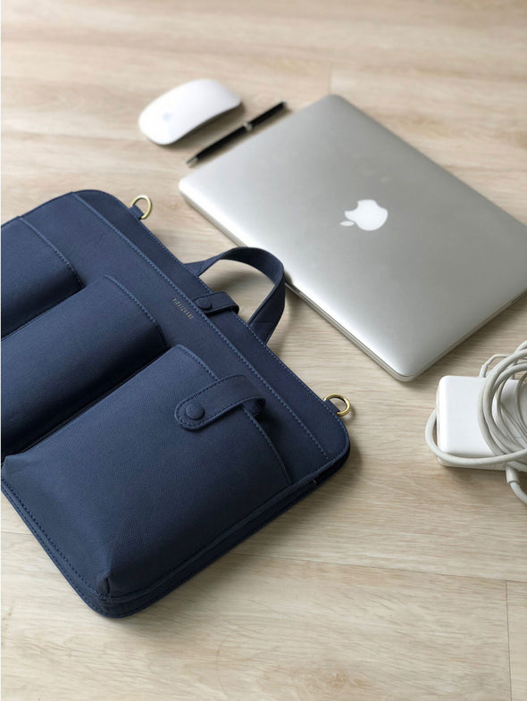 LIA LAPTOP CANVAS - NAVY