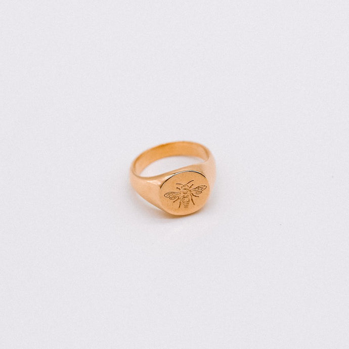 Bee Signet Ring