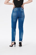 Load image into Gallery viewer, Mila Crosshatch Skinny Jeans