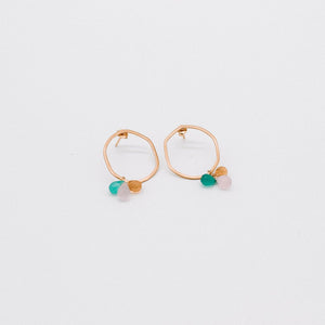 Beaten Gold Droplet Earrings