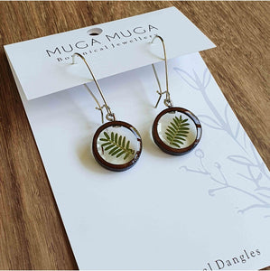 Thorn Leaf Round Dangles