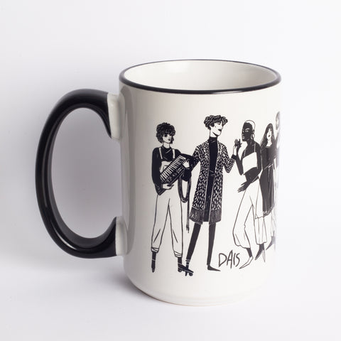 Illustrated Coffee Mug