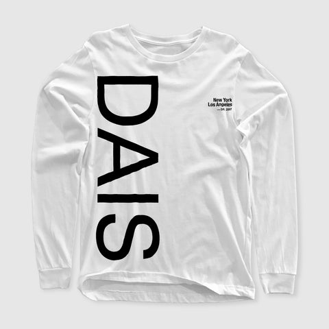 "Dais ""Est. 2007"" White Long Sleeve"