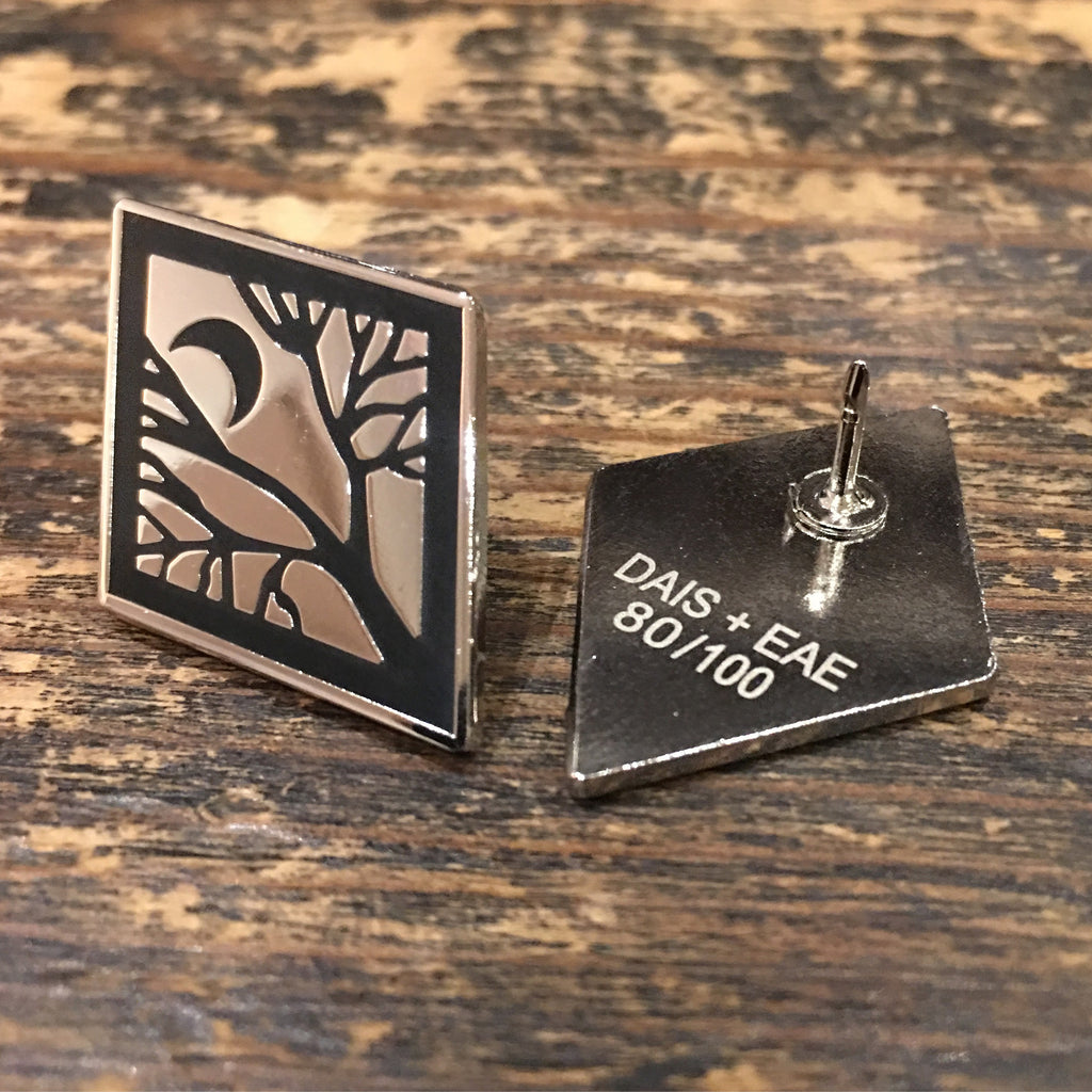 Tor Lundvall Moon/Tree Enamel Pin