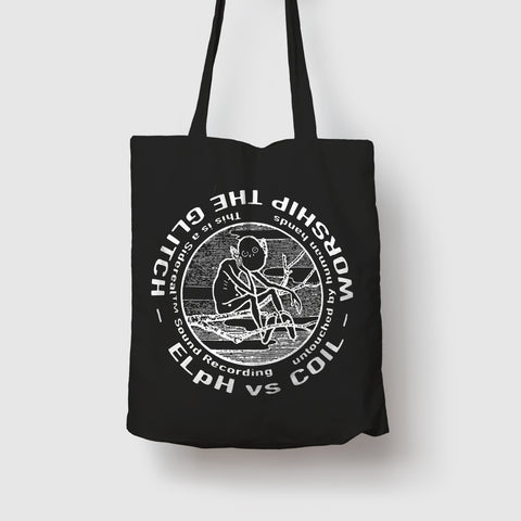 Worship The Glitch Black Tote Bag