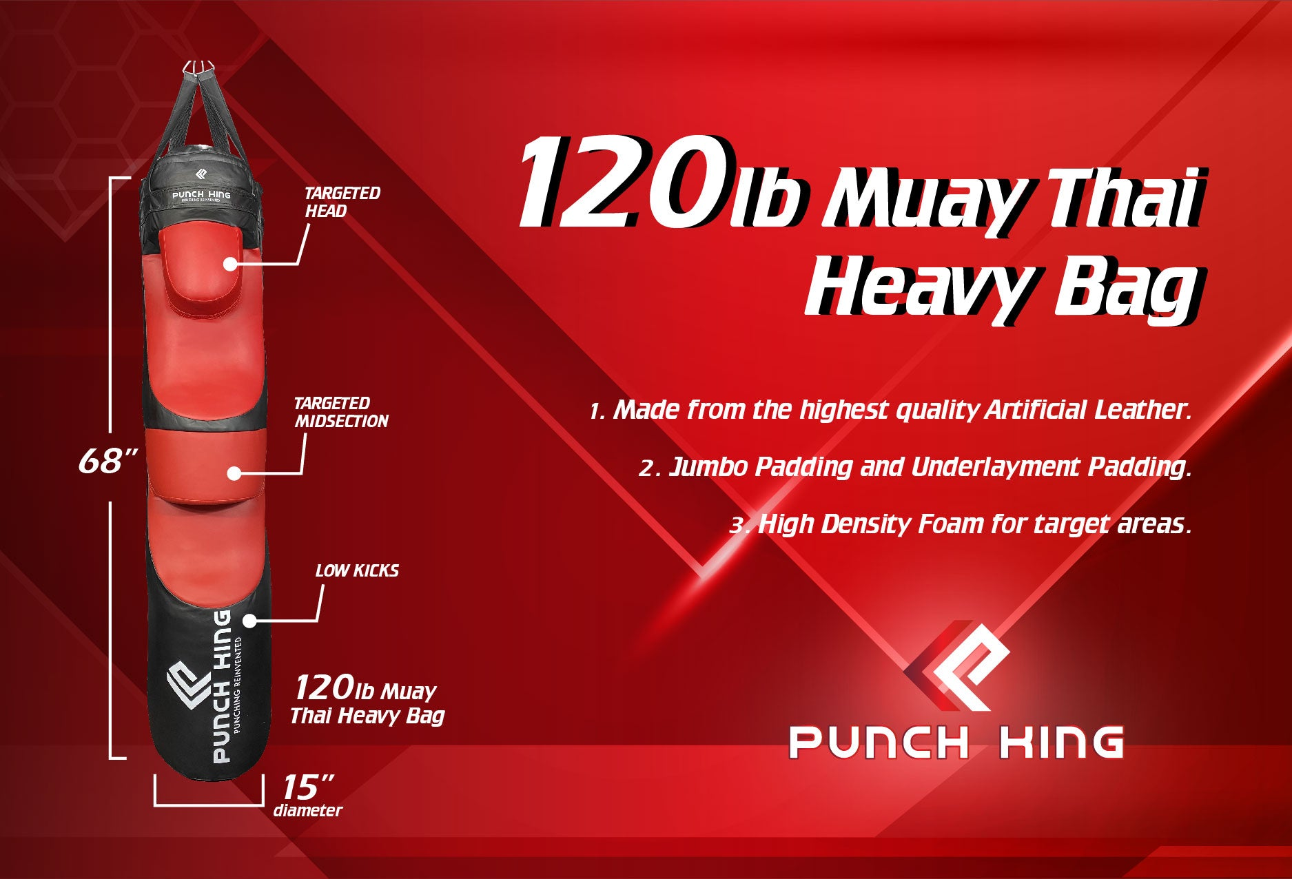 Muay Thai Style Punch King Heavy Bag