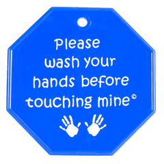 "My Tiny Hands ""Please Wash"" Sign - Blue"