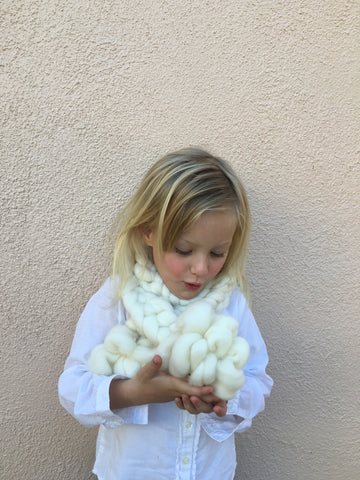 Childs chunky braided scarf
