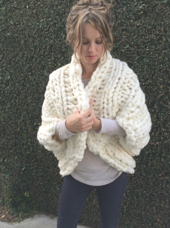 Finer Chunky Knit Shrug