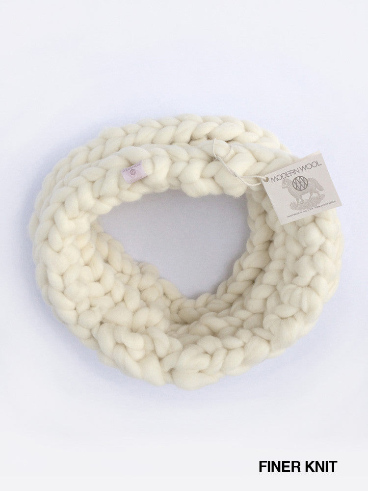 Infinity Scarf Chunky Knit- Finer