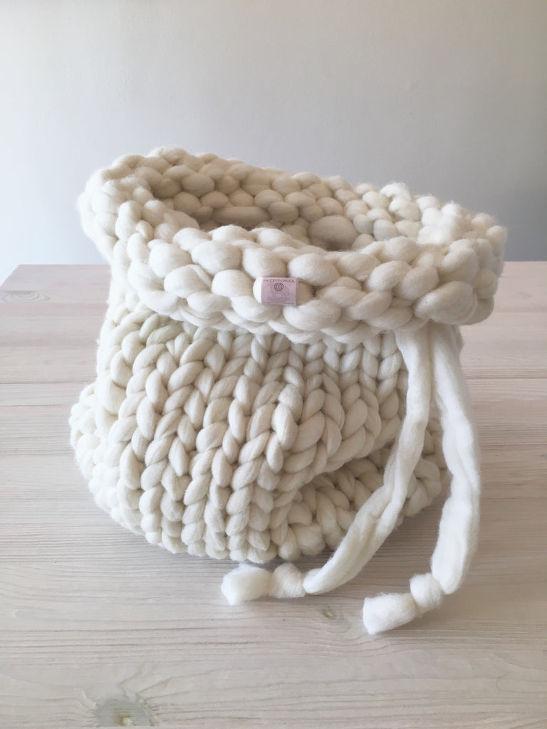 "Knitted Wool Bag (16"" deep)"