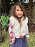 Kids finer chunky knitted vest
