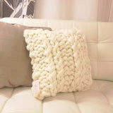 modern wool pillow