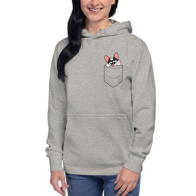 French Bulldog In A Pocket Unisex Hoodie