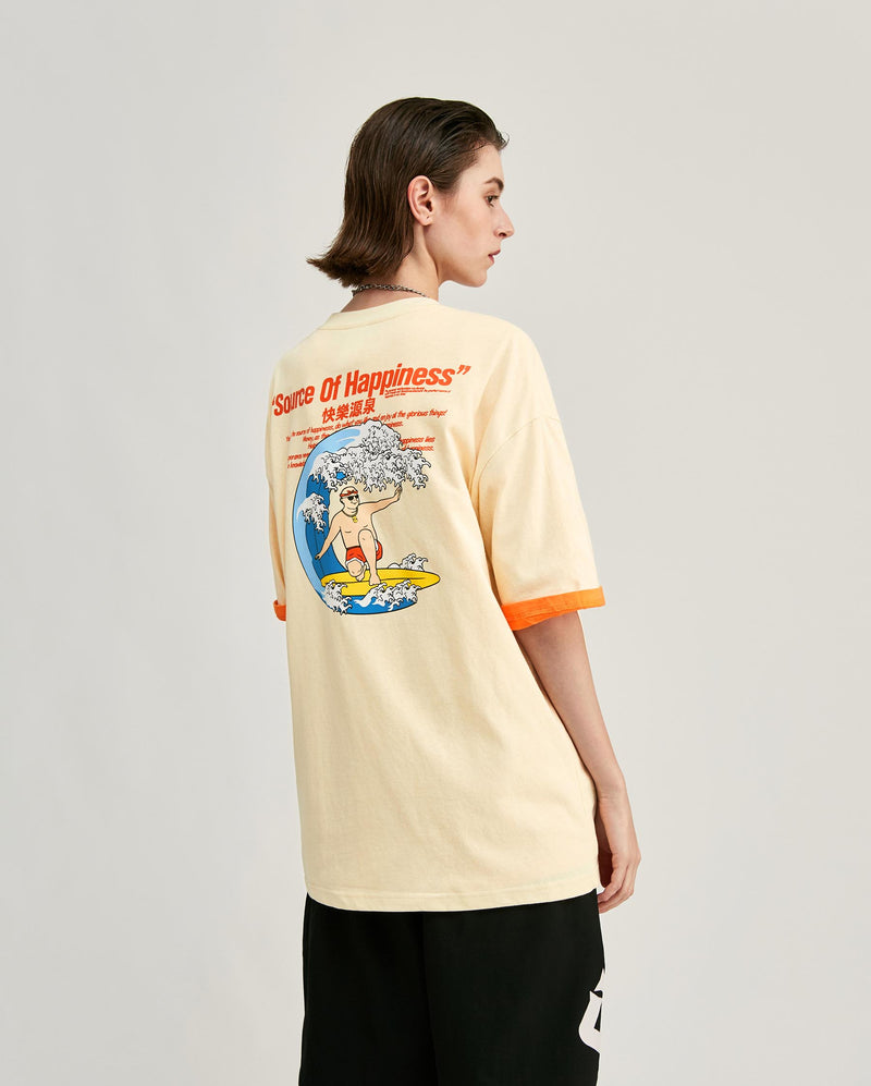 Source Of Happiness T-Shirt Beige
