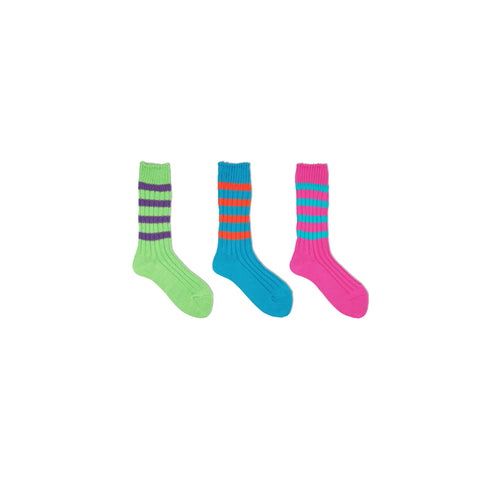 Heavyweight Socks / Stripes / Crazy Color