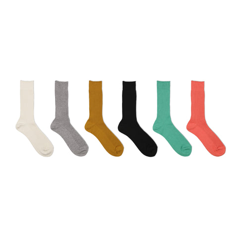 Superior Rib Socks / Cashmere Cotton