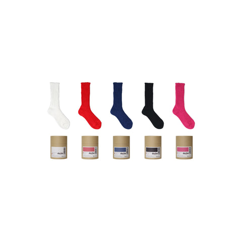 Cased Heavyweight Plain Socks -2nd Collections-