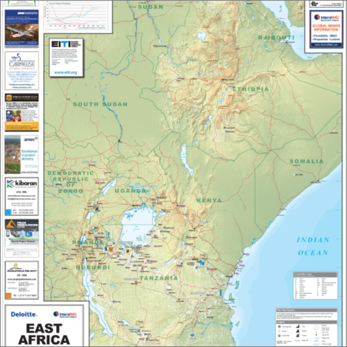 East Africa Minerals Map