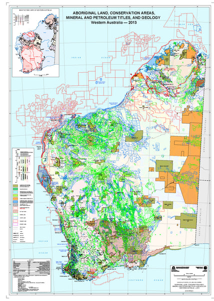 Conservation and Geology Map -Western Australia